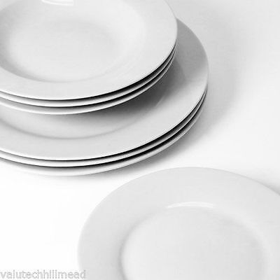 Sabichi 12 Piece Day to Day White Porcelain Dinner SET NEW