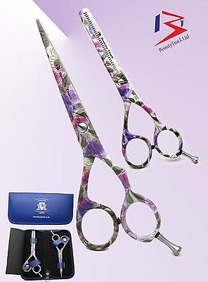 """5.5"""" Professional Hairdressing Scissors Barber Cutting Thinning Scissors Shears"""