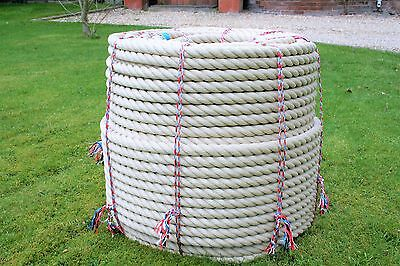 Rope - Synthetic Hemp, Polyhemp, Hempex For Decking, Garden & Boating 32mm