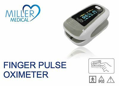 Adult/Child Fingertip Pulse Oximeter with OLED Screen (Sp02/Pulse Rate/PI Index)