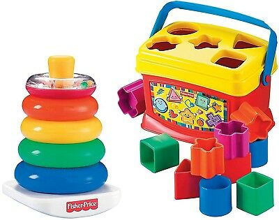 Fisher Price Rock a Stack Babys 1st Blocks Puzzle Bundle Learning Educational