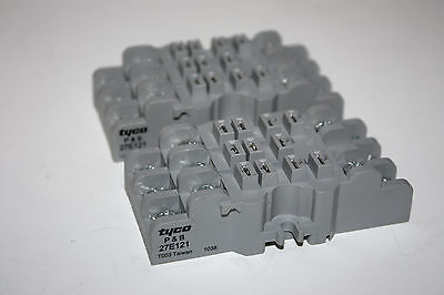 Lot of Two (2) Tyco, Potter & Brumfield 27E121 Relay Base Socket
