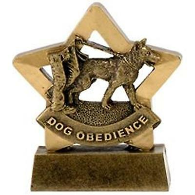 """3.25"""" Dog Obedience Star Trophy FREE Engraving Up To 30 Letters option gift box"""