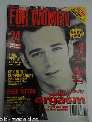 "VERY SCARCE magazine "" FOR WOMEN"" Volume 1 Number 6 - 1993 - LUKE PERRY"