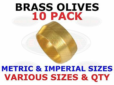 DIY water plumbing UK seller NEW 8mm compression Brass olives pack of 50
