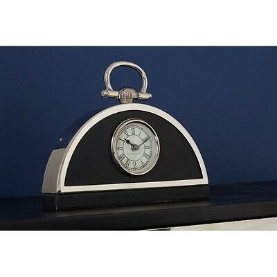 Fifty Five South Stainless Steel Kensington Townhouse Mantle Clock Deco Antique
