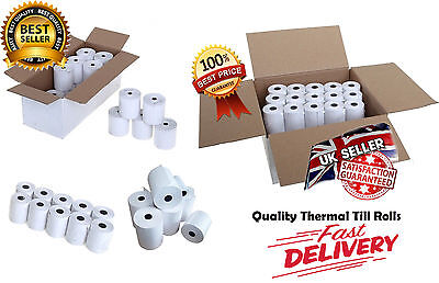 THERMAL PAPER ROLL 57x44mm  MACHINE TILL CREDIT CARD,PDQ CASH REGISTER RECEIPT