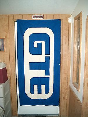 "Vintage Gte - General Telephone Banner 71"" X 34"""