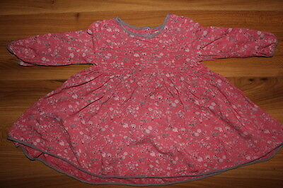 NEXT girls pink with grey dress 9-12 months *I'll combine postage