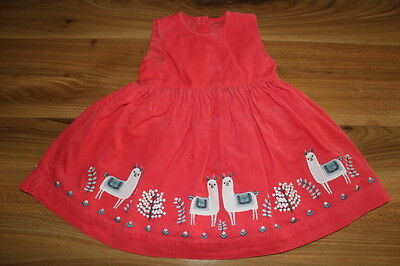 M&S girls red cord dress 9-12 months *I'll combine postage