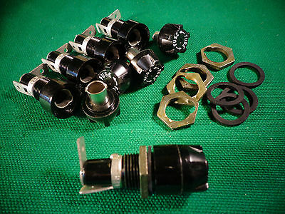 Bussman HTA 15A 250V 3AG Fuse Holders for Chassis or Panel Mount (5)