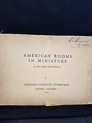 American Rooms In Miniature Book from Carnegie Institute Dated 1942