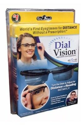Adjustable Glasses Eyeglasses Dial Vision For Distance or Reader Uk Stock New