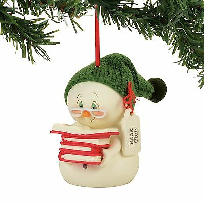 Department 56  Snowpinions Book Club Ornament New 2017 !