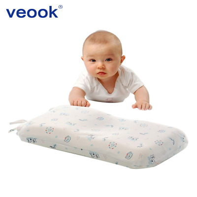 Veook Baby Memory Pillow Supports Head & Neck ,3D Groove Memory Foam Positioner