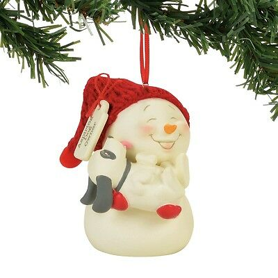 Department 56  Snowpinions Asipiring Dog Owner Christmas Ornament New 2017 !