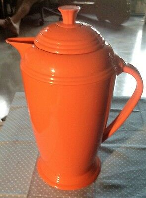 Fiesta Insulated Homer Laughlin/copco Pitcher-Orange-Great Condition