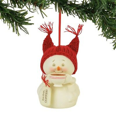 Department 56  Snowpinions But First, Coffee Christmas Ornament New 2017 !