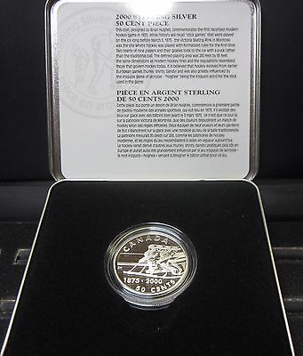 2000 Canada 50C Proof Coin ✪ Hockey Commemorative ✪ Sterling Silver ◢Trusted◣