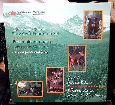 (4) 1996 Canada 50C Proof Coins ✪ Little Wild Ones ✪ Sterling Silver ◢Trusted◣