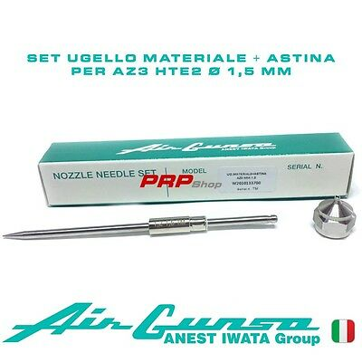 Set Ugello Materiale + Astina per Air Gunsa AZ3 HTE2 - Nozzle Needle Set 1.5 mm