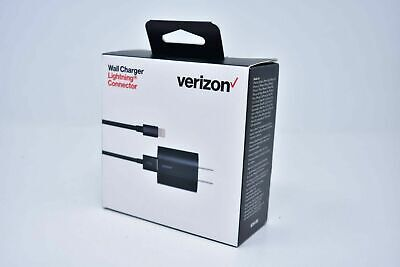 Verizon OEM Home & Car Charger w/ Lightning USB Cable For iPhone X 8 7 6s Plus 5