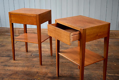 Vintage Pair Of Bedside Tables Teak By Gibbs Lamp Occasional Tables