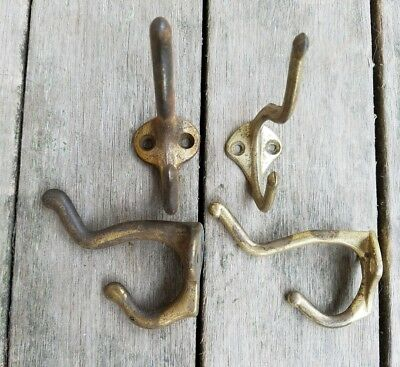 Antique brass coat hooks 4