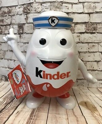 Kinder Kinderino Sailor Surprise Egg Ferrero Empty 9'' Box Toy Container Figure