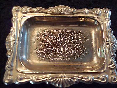 Silver Plated Trinket Vanity Jewelry Tray