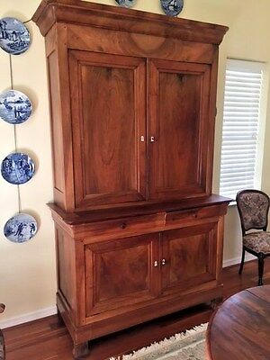 FRENCH PROVINCIAL ANTIQUE  FURNITURE LOUIS PHILIPPE BUFFET CUPBOARD Circa 1850