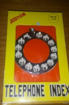 Vintage Justen Telephone Index Address Book Very Cute