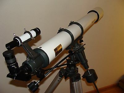 Meade Model 395 90Mm Aperture  1000Mm Focal Length With Equatorial Mount