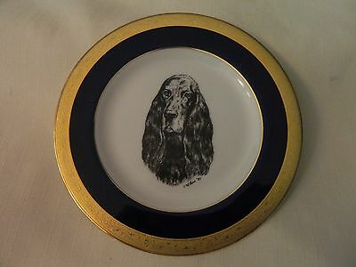 1991 Pretty English  Cocker Spaniel Collector Plate - Eliot Ross - Euc