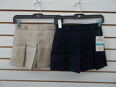 Girls Dockers Uniform Khaki or Navy 2 Button & Loop at Waist Skort Size 4 - 18.5