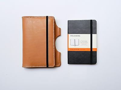 NEW Kendal & Hyde NATURAL Leather Moleskine Cover w/ FREE NOTEBOOK