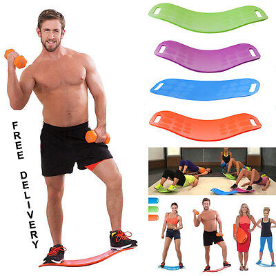 Simply Fit Unisex Balance Board Ab Toner Bonus Workout Free Delivery