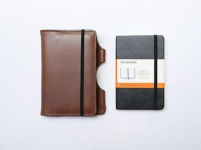 NEW Kendal & Hyde MOCHA Leather Moleskine Cover w/ FREE NOTEBOOK