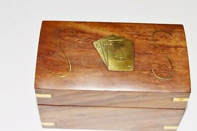 Double Playing Cards wooden Holder Box Storage Case. USA Seller!!!