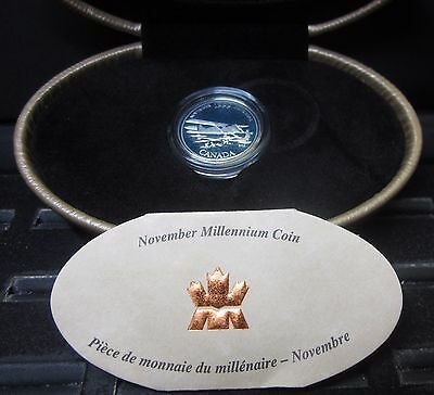 1999 Canada 25C Proof Silver Quarter ✪ November Millennium Coin ✪ Box ◢Trusted◣
