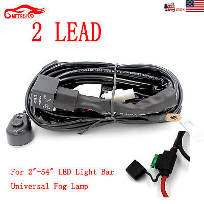 2x 40A 12V Power Switch & Relay Wiring Harness Kit for LED Work Light Bar Pods
