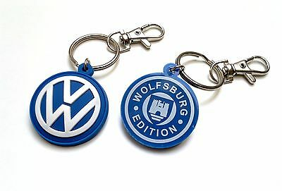 VW keyring - high quality rubber PVC keychain, double side Polo Golf Passat