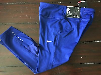 New Nike Women Power Epic Running Tight Fit Crop Length Tights $75  XS-L