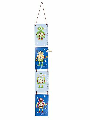 Wooden Robot Blue Height Growth Chart For Boys Nursery Bedroom Mousehouse
