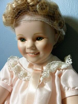 """Danbury Mint """"little Miss Shirley"""" Temple Toddler Doll Collection~Mib~1 Owner"""