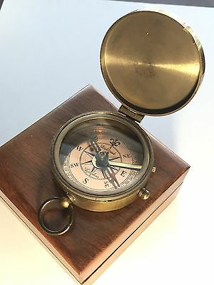 """JM Barrie Peter Pan Brass Compass """"SECOND STAR To The Right"""". USA Seller!!!"""