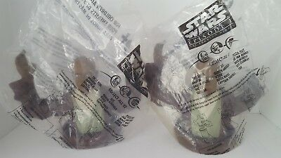 STAR WARS: Episode 1 Pizza Hut Lot of 2 MACE WINDU Cup Toppers