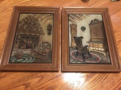 Pair Of Vintage Turner Wall Accessory Plaques.