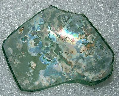 ancient roman glass fragment .very nice.....,big.