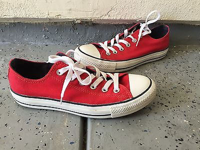 Converse Chuck Taylor All Star Low Top Canvas Shoes- RED Sz 8 Women / 6 Men